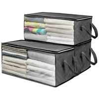 AM_ Multifunction Large Folding Under Bed Quilt Clothes Storage Bag Box Organize