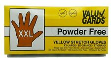 VALU GARDS Yellow stretch gloves Powder/Latex Free XXL 100 COUNT FDA approved