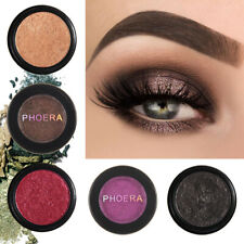 PHOERA Compact Eyeshadow Glitter Shimmer Metallic Palette Pigment Eye Shadow UK