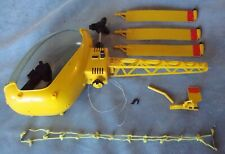"""Vintage 1970s """"G.I.JOE Adventure Team Helicopter"""" For Parts Or Restore! Great!"""