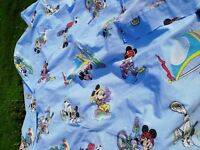 Drap-plat-Flat-sheet-vintage-Mickey sport C.T.I -Disney 1 personne (264x179)