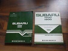 Subaru 1600 / 1800 Motor Fahrwerk Karosserie Deutsch General WERKSTATT HANDBUCH