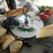 French Cheese Platter. Ceramic Cheese Board by 'MBFA Pornic' Pottery of Brittany