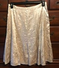 Chico's Silk Chardonnay Quiet Moments Hurley LIned Skirt Size 2 NWT