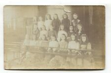 Tottenham - Bruce Grove school girls - 1904 used London real photo postcard
