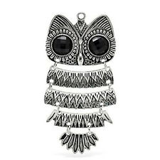 Large Owl Charm Pendant for Necklace