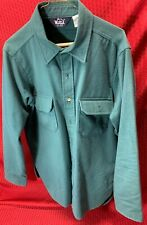 Vintage Woolrich 100% Cotton Hunting Shirt Heavyweight Mens Large USA