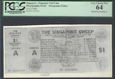 Singapore - Turf Club Sweepstake Ticket 15-12-1966 Photographic Proof  UNC