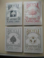 Lot 4 New Rare Trace Decks Blue,Red,Gold,Silver Bicycle Playing Cards