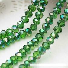 Hot Faceted Rondelle Jewelry Bicone Craft Glass Crystal Beads AB 4mm 71PC Green