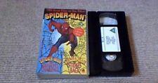 SPIDER-MAN MIA UK PAL VHS 2 GREAT FILMS ON 1 VIDEO 1993 Nicholas Hammond Marvel