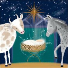 Pack of 5 Away In A Manger British Heart Foundation Charity Christmas Cards