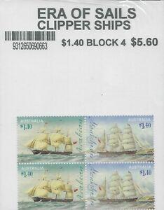 2015 Era Of Sails $1.40 (Block of 4) MUH Still in Post Office Packaging