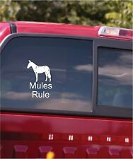 Mules Rule Vinyl Decal Sticker Car Window Horses Decal Sticker