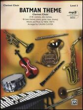 Batman Theme for Clarinet Choir Score & Parts Sheet Music Book Level 3 TV Series
