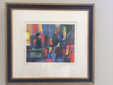 "Lithograph by Marcel Mouly, ""les lithographes"" Park West COA  FRAMED. Mint cond"