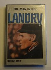 LANDRY THE MAN INSIDE BY BOB ST. JOHN HC DJ 1979 DALLAS COWBOYS BX34