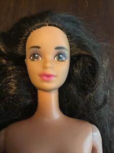 Vintage BarbieTeresa Steffie Face Brown Hair Brown Eyes Pink Lips Nude  OOAK
