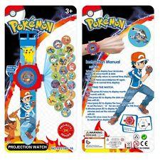 Cute Pokemon Pikachu Monster 24 Projection Kids Toys Watch Gift Wrist Watch New