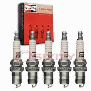 5 pc Champion Platinum Spark Plugs for 1993-1997 Volvo 850 2.4L L5 Ignition jr