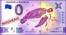 UE BX-5 / AQUARIUM LA ROCHELLE / TORTUE / BILLET ZERO € / 0 € BANKNOTE 2021-5