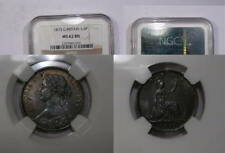 1873 GB FARTHING NGC MS 62 BROWN NGC PRICE GUIDE=$180 INV#314-2