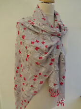 NEW! White Stuff Butterfly Scene Print Scarf RRP£25 - Slight second
