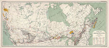 1915 Mineral Mining Map of the Dominion of Canada Wall Poster Vintage History