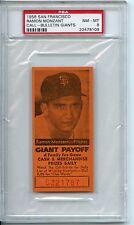 1958 San Francisco Ramon Monzant Call-Bulletin Giants PSA 8 POP 1 None Higher