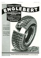 Publicité ancienne pneus Englebert stabilisation Forge 1939 issue de magazine