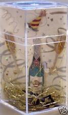 Hard Rock Cafe PARIS 2000 Millennium 4 PIN BOX SET Champagne Glasses Hat #7316