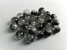 25 perles verre craquelé noir et blanc creation bijoux collier bracelet 8mm