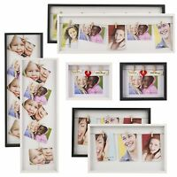 Clip Line Multi Picture Photo Frame Art Hang Display Wall Decoration Wood Effect