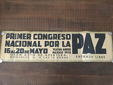 1951 Mexico Peace Poster - Primer Congreso Nacional por la Paz - ALBERTO BELTRAN