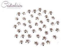 20 Perles Intercalaires étoile Accessoire métal argenté  5 mm
