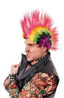 Punk Mohican Rocker Wig Fancy Dress Mohawk