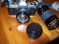 Canon  A 1 mit Tasche, 2 Zusatz- Objektiven