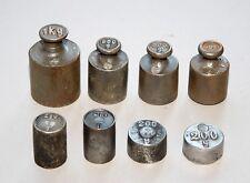 Colección vieja waagengewichte hierro báscula peso # 953