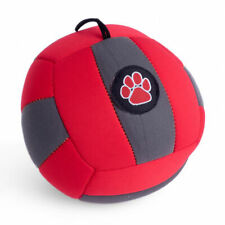 Outdoor Paws Red Grey Aqua Football Dog Puppy Fun Water Land Squeaky Play Toy