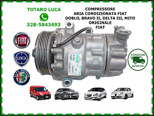 Compressore Aria Condizionata Fiat Bravo Mito Delta Doblo 51820448 1.6 multijet