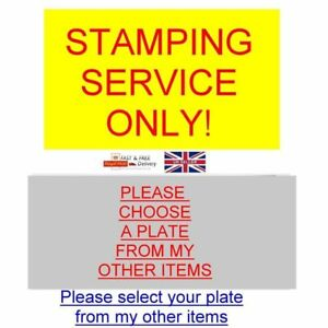 BUY OUR STAMPING SERVICE FOR ALL OUR BLANK-VIN-CHASSIS-PLATES AVAILABLE NOW