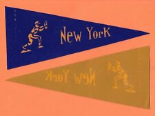 OLD RARE NEW YORK METS PREMIUM MINI PENNANT Unused Unsold Stock
