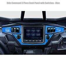 2017+ Ride Command RZR XP1000 CNC Dash Panels with Switches Blue Powdercoated