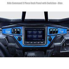 3 Piece 6 Switch Dash Panel Blue for 2017+ Polaris RZR XP1000 Ride Command Edi
