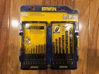 IRWIN 15-Piece Set 6-in Gold Ferrous Coated HSS Twist Drill Bit Set 024721063601