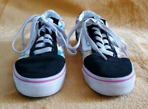 Girls Multi Colored Cheched Vans Off The Wall Size 3