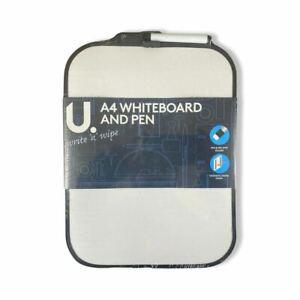 5 x A4 Dry Wipe Magnetic Mini Office Whiteboard Notice Memo Pen & Erase