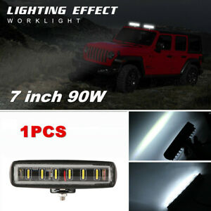 """1x 90W LED Work Lights Spot Beam Fog Offroad Lamp For ATV UTE SUV 7"""" Long Strip"""