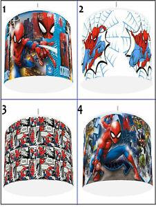 "SPIDER-MAN SPIDEY Kids Bedroom Light Shade Lampshade  8""  4 DESIGNS"