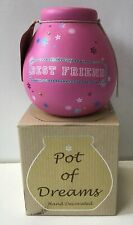 Pot of Dreams - Best Friends Decorated Money Box Piggy Bank Brand New